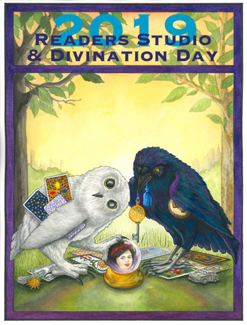 2019 Readers Studio & Divination Day poster art