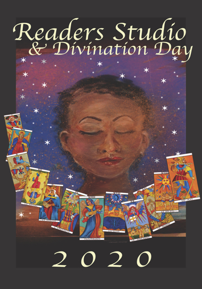 Poster Art for 2020 Readers Studio + Divination Day