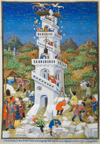 Tower of Babel from a Book of Hours for the Duke of Bedford