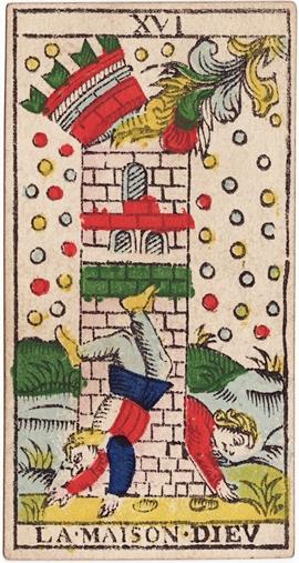 The Tower -- Tarot de Marseilles Type 2